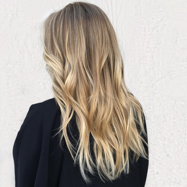 Golden Balayage Ombre