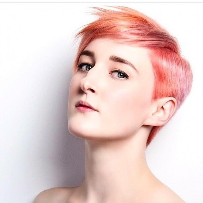 Gorgeous Tapered Pink Bangs