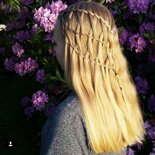 Gorgeous Waterfall Braid
