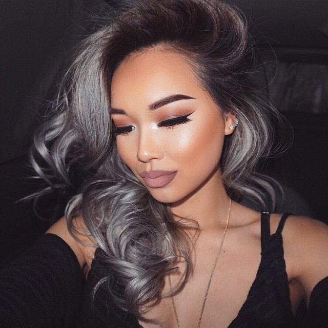 Gray Curly Weave