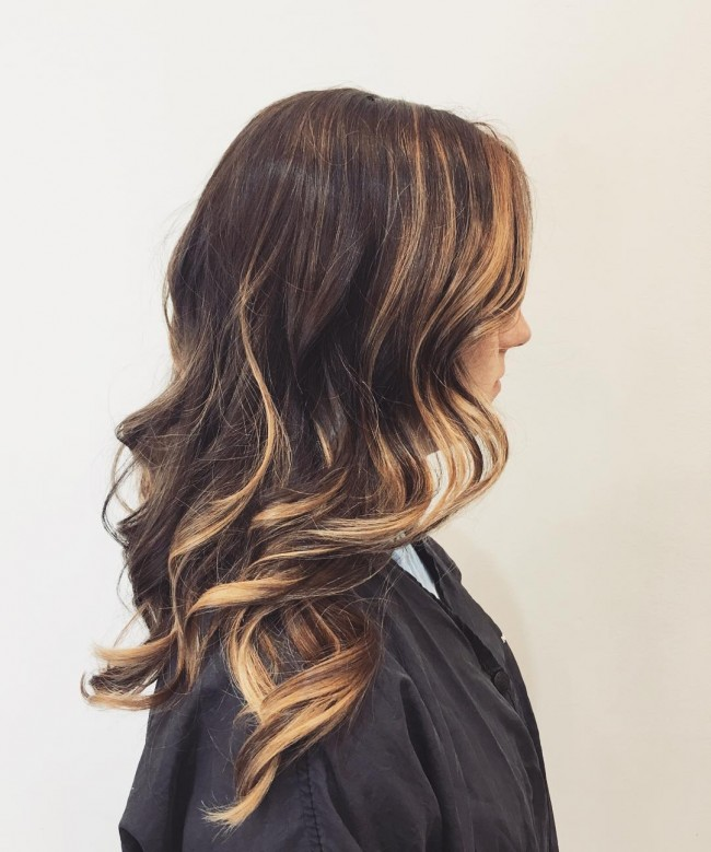 High Contract Brunette Balayage
