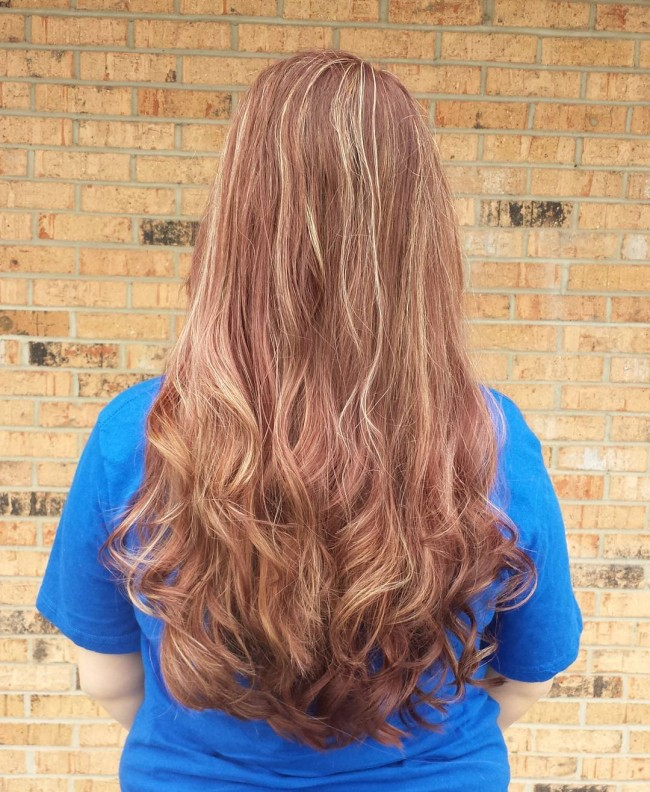 Highlighted and Brushed Back Tresses