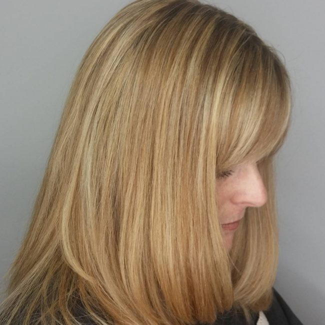 Honey Blonde Highlights With Red Undertones