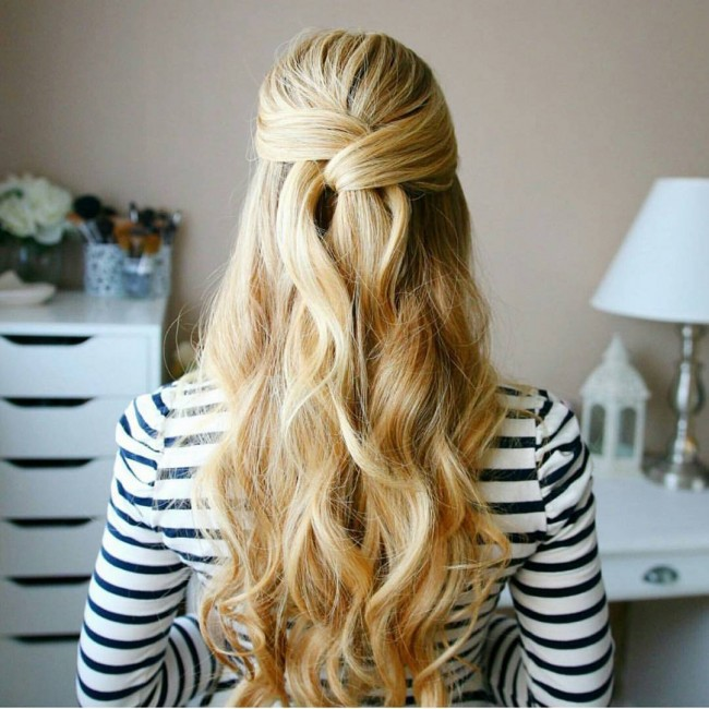 Intertwined Curls Updo