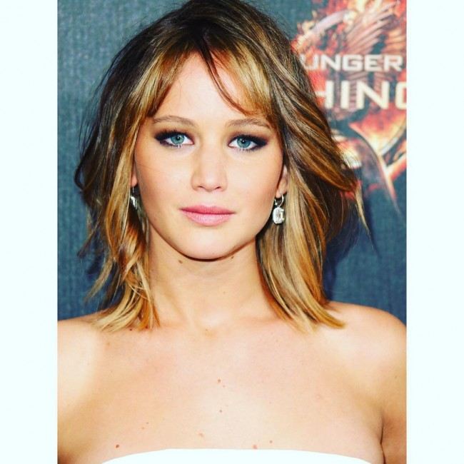 Jennifer Lawrence Side Bangs