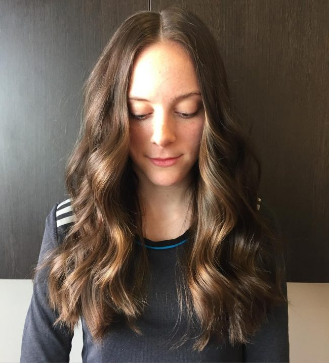 Layered Brushed Out Sombre Waves