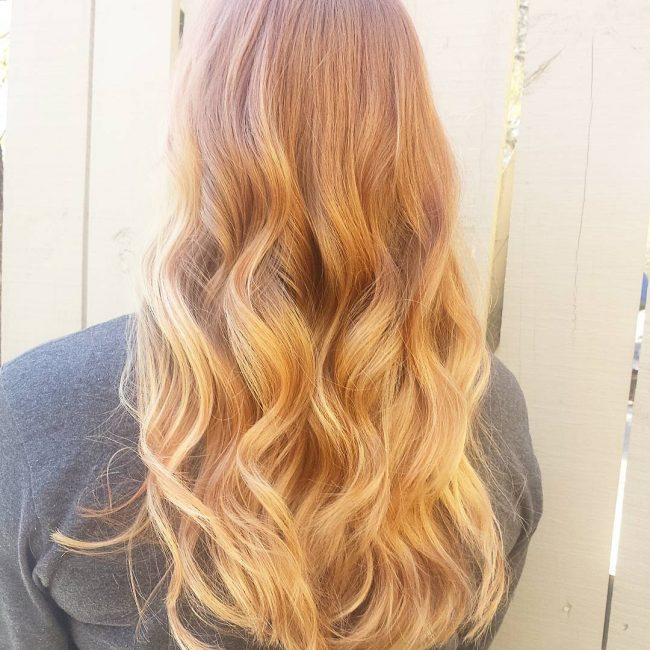 Light Copper Ombre With Waves