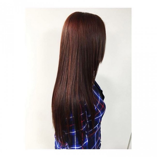 Long and Luxurious Deep Mahogany Locks