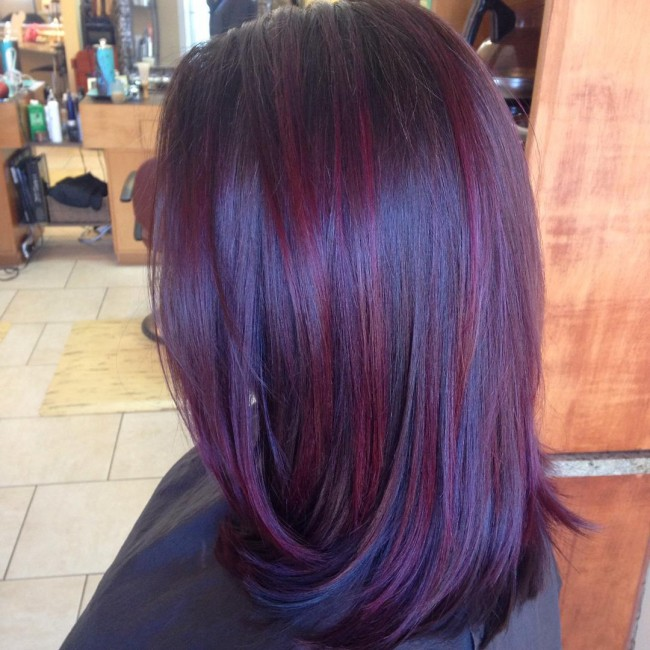 Lovely Burgundy Streaks