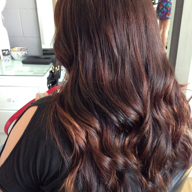 Mahogany with Brushed Copper Ombre Highlights