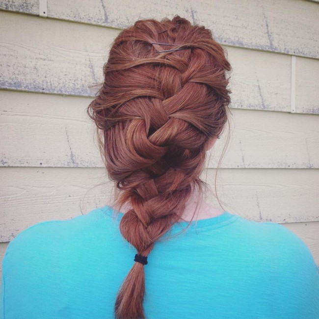 Messy French Braid