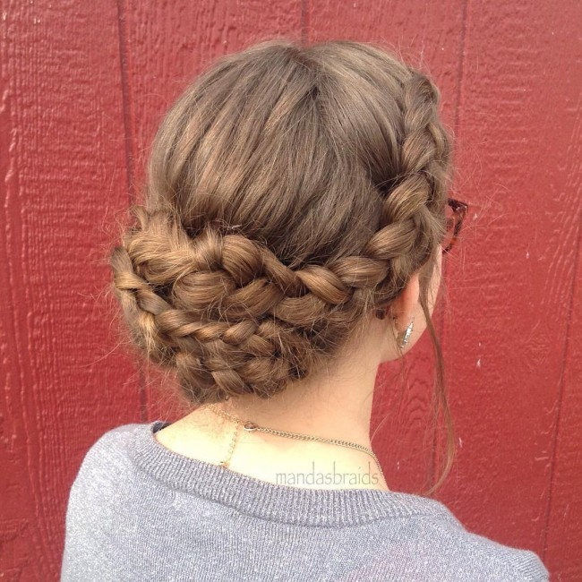 Messy and Plaited Chignon
