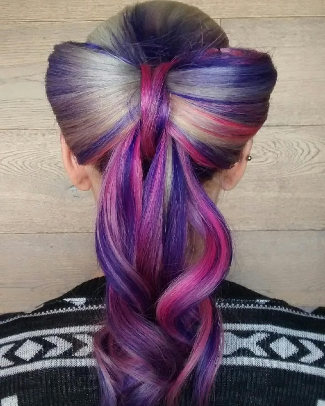 Multicolored Hair Bow