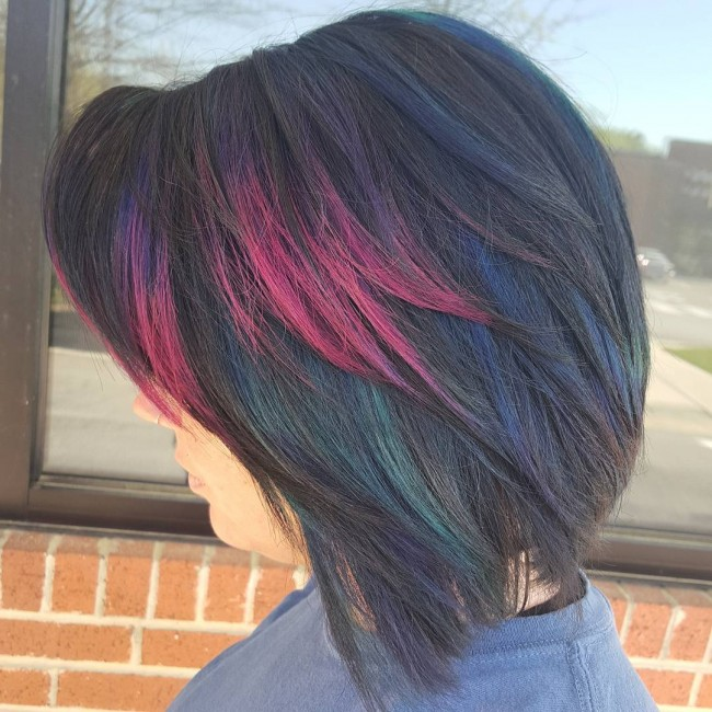 Multicolored Layered Bob