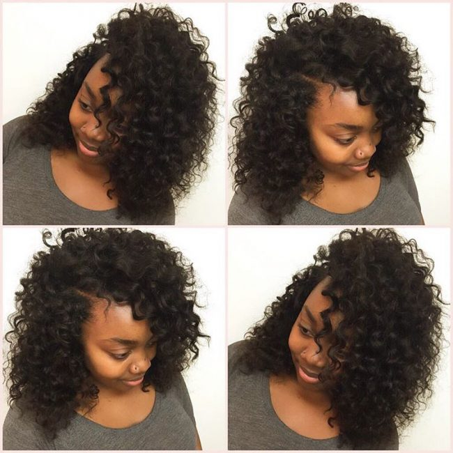 3 Natural Black Curly Sew In