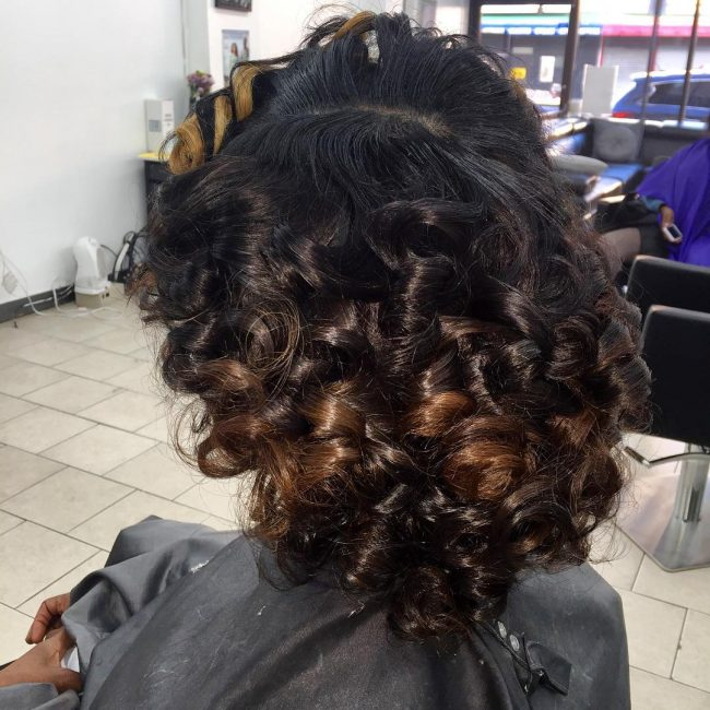 Ombre Curly Weave