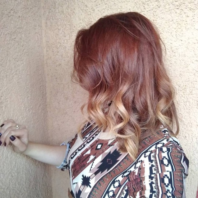 Ombre with Partial Blonde Streaks