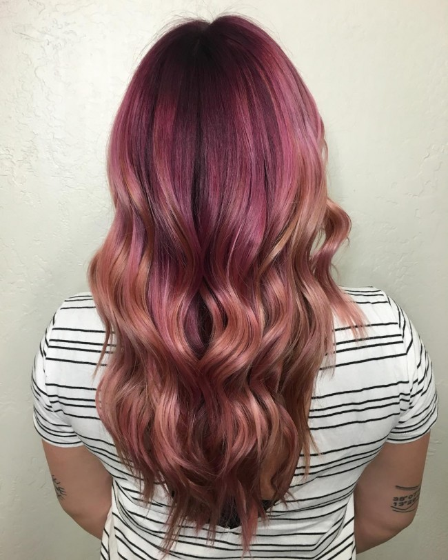 Ombre with a Hint of Pink