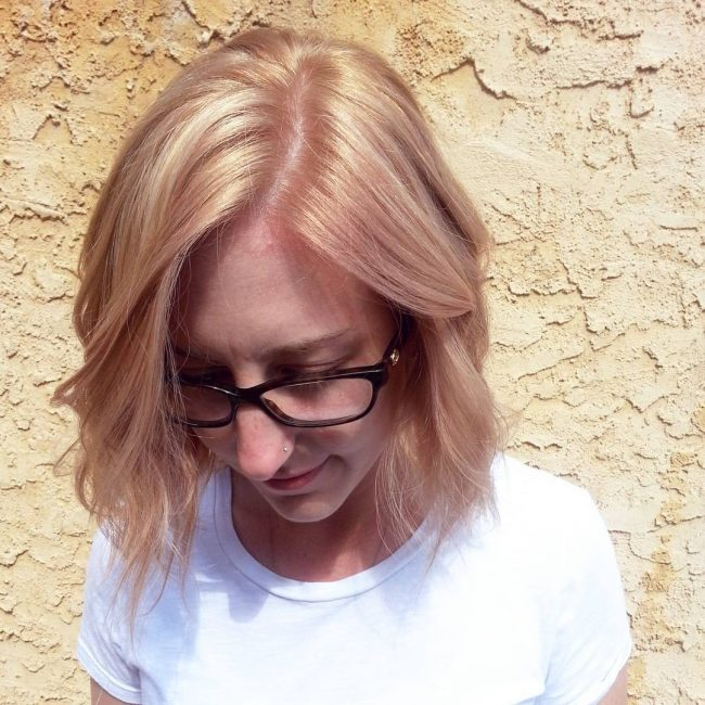 Pale Strawberry Blonde With Light Brown Low Lights