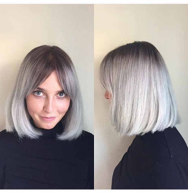Platinum Blonde Long Fringe