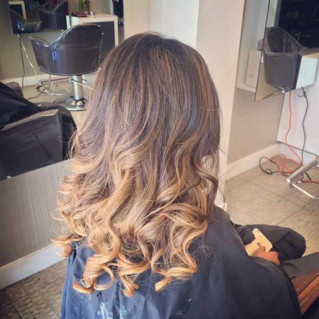 Pretty and Sweet Highlighted Brunette Strands