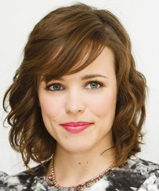 Rachel McAdams Chocolate Brown Wavy Bangs
