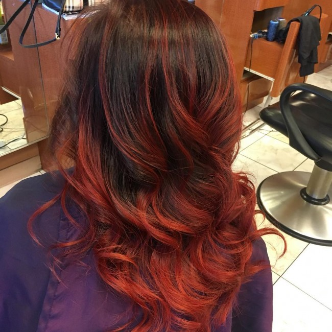 Red Brown Balayage