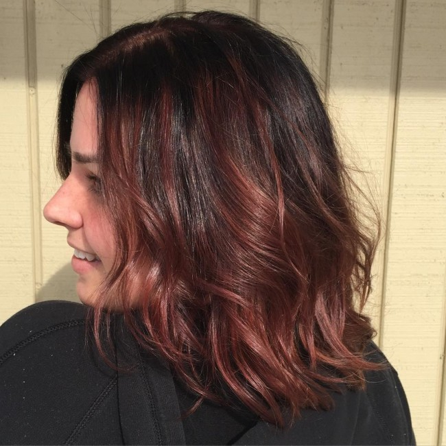 Red and Chestnut Brown Color Melt