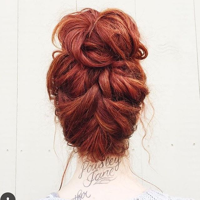 Reverse Braid To Top Knot