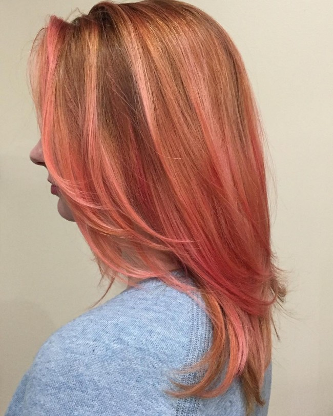 Light Copper With Rose Gold Tips