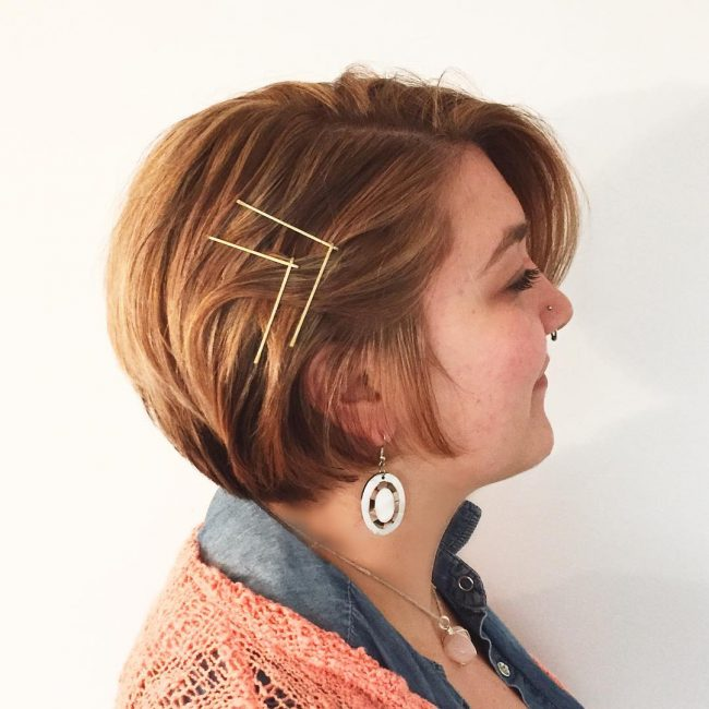 Short Angular Pinned Bob
