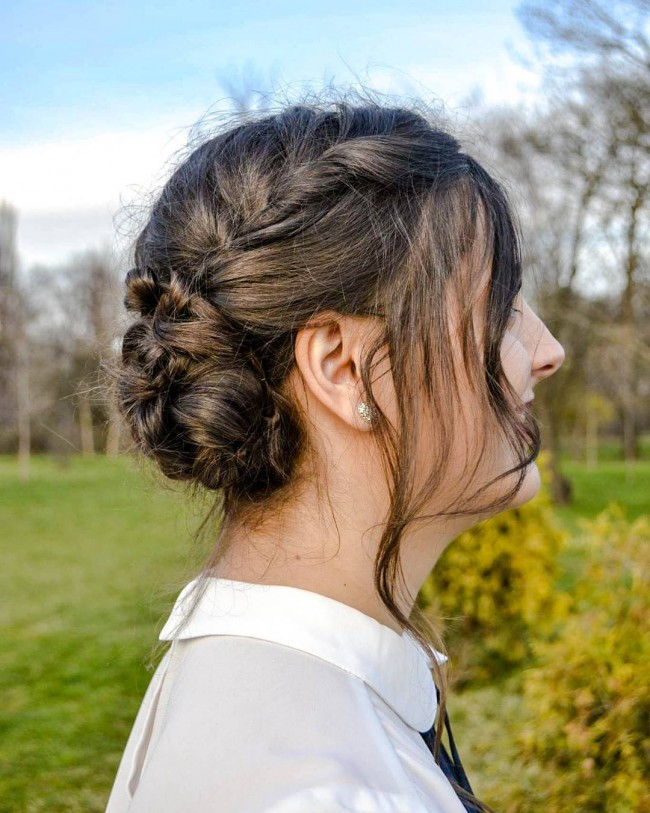 Side Braid Shady Updo