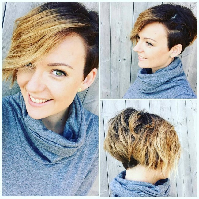 Side Cut Ombre Strands