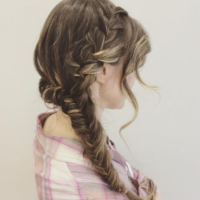 Side Swept Fishtail