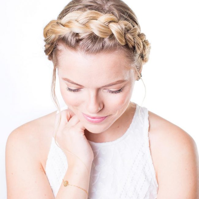Sleek Braided Crown