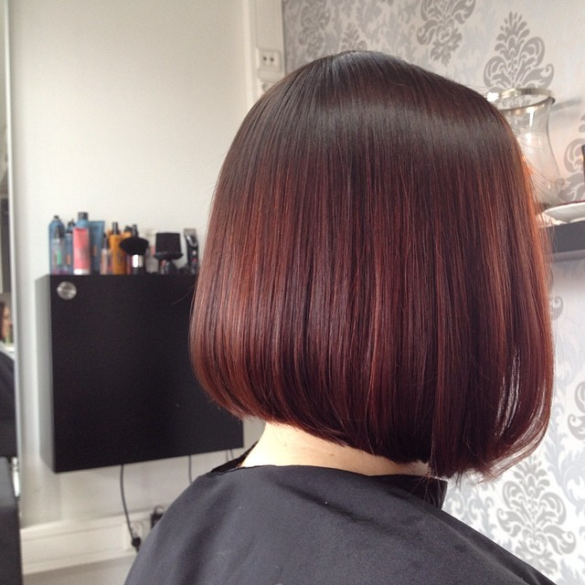 Smooth and Blunt Red Head Bob