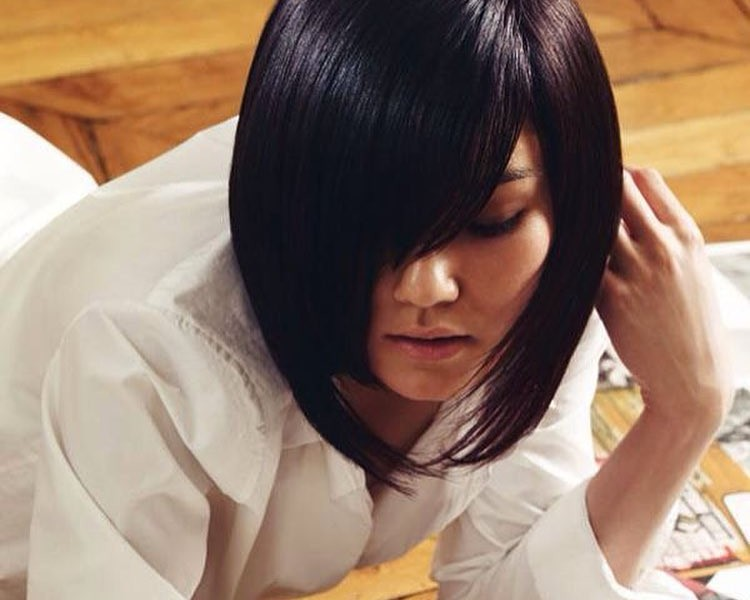 Smooth and Edgy Bob Cut