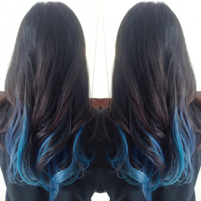 Soft Blue on Black Highlights