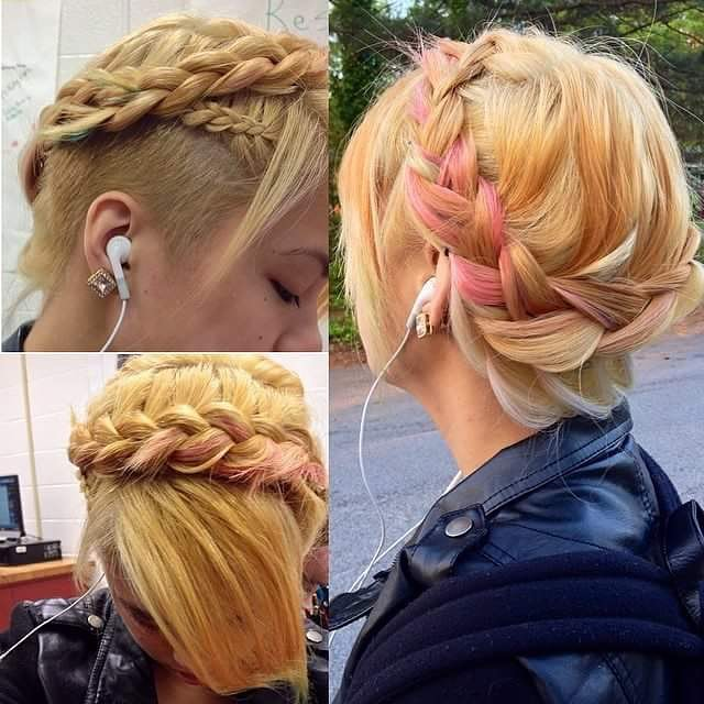 Soft Pink Crown with Undercut