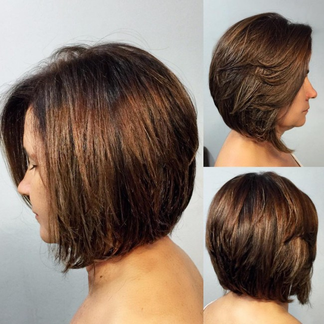 Stacked Chocolate Brown Bob