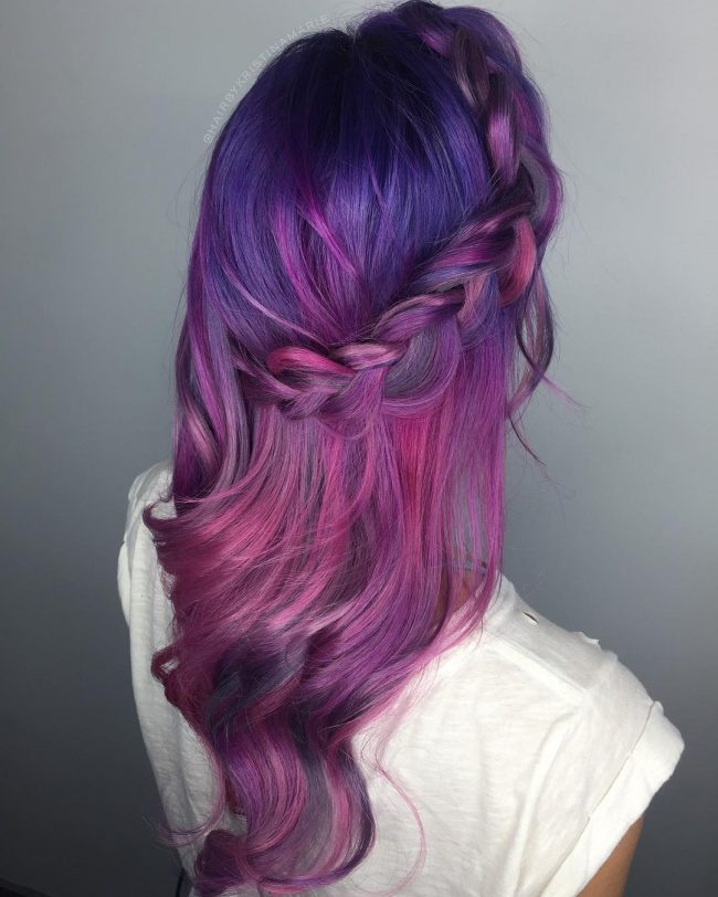 Stunning Braided Blue and Purple Blend