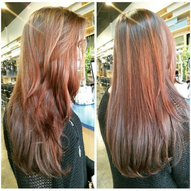Subdued Reddish Blonde and Copper