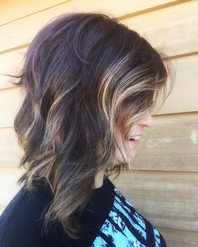 Sweet Asymmetrical and Wavy Ombre