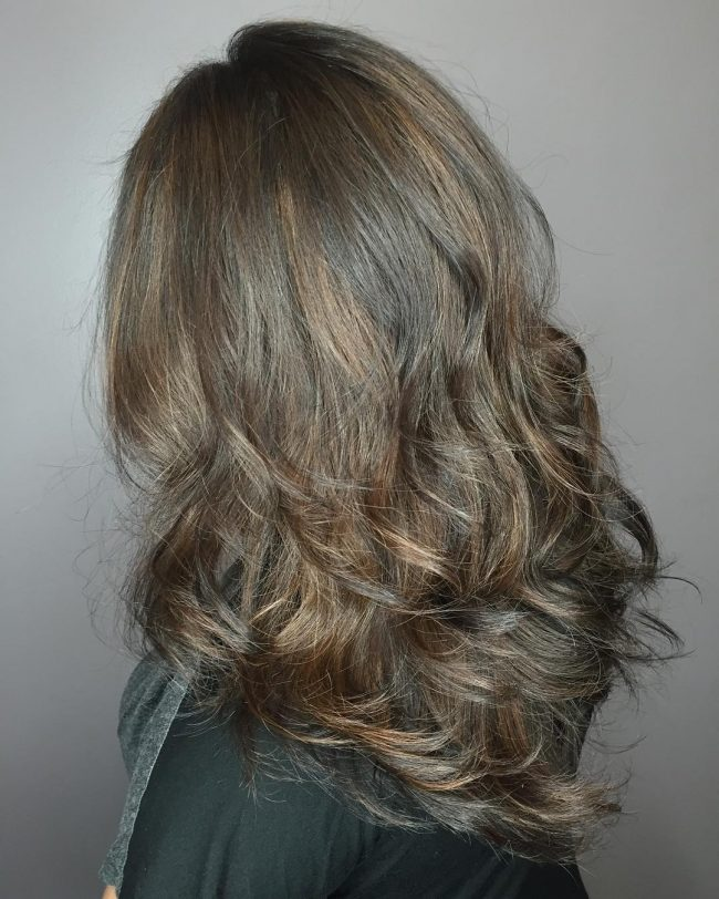 Toned Down Curly Blowout