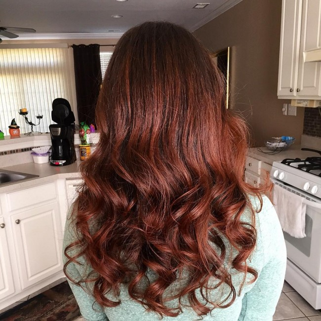 Trendy Cinnamon Balayage Headdress