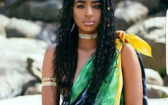 Twisted Cornrows With Loose Waves