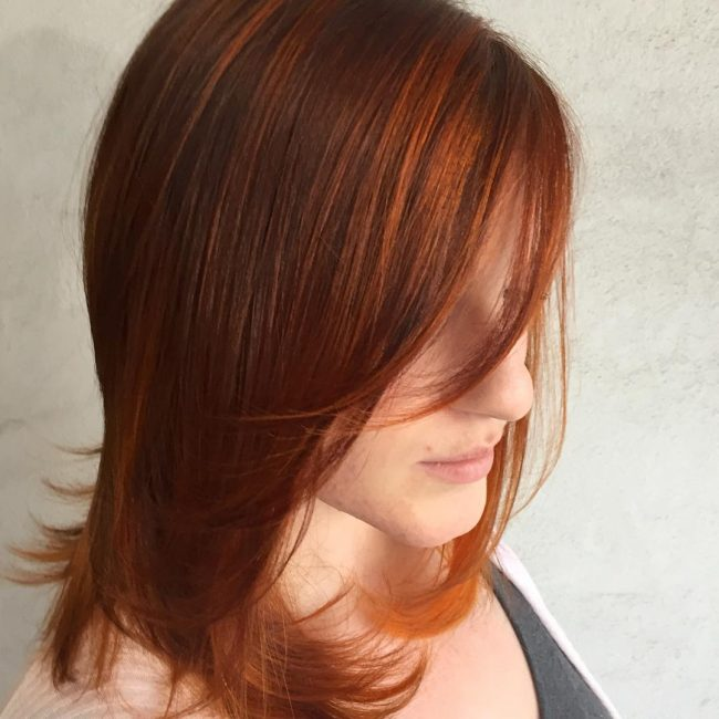 Two-Tone Strawberry Blonde Tresses