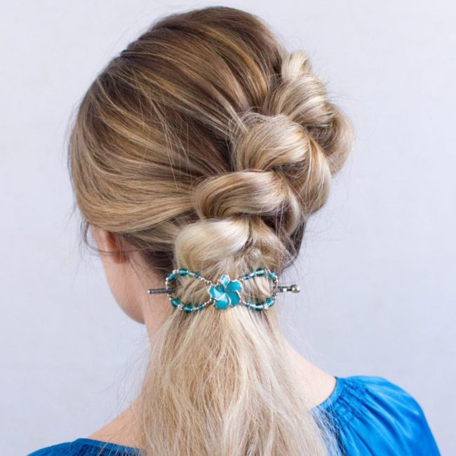 Unique French Braid Updo