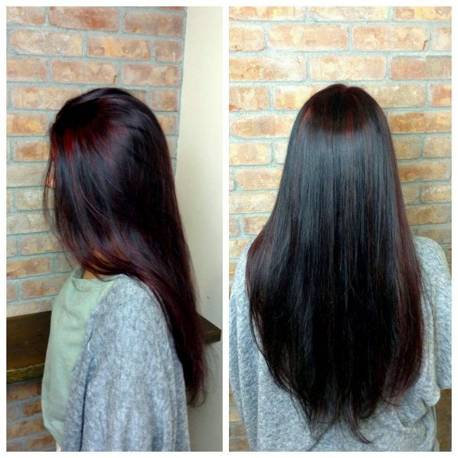 Violet Strands with Ruby Red Streaks