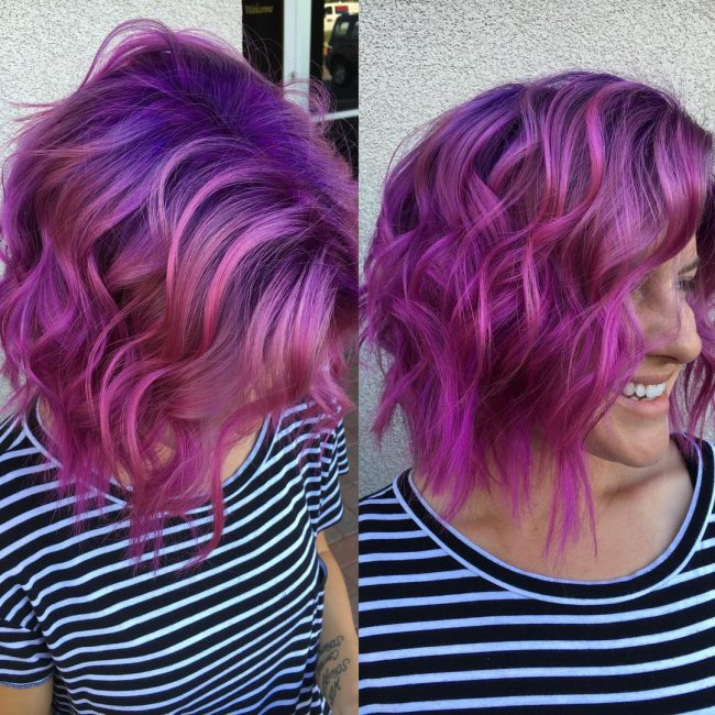 Voluminous and Texture Violet Pastel